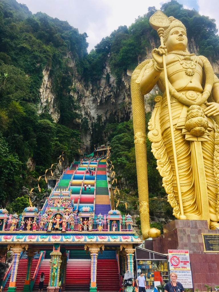 Les grottes de Batu abritant un temple hindou